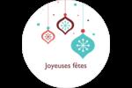 Ornements de flocon de neige Étiquettes Voyantes - gabarit prédéfini. <br/>Utilisez notre logiciel Avery Design & Print Online pour personnaliser facilement la conception.