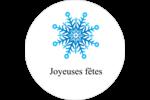 Flocon de neige Étiquettes Voyantes - gabarit prédéfini. <br/>Utilisez notre logiciel Avery Design & Print Online pour personnaliser facilement la conception.
