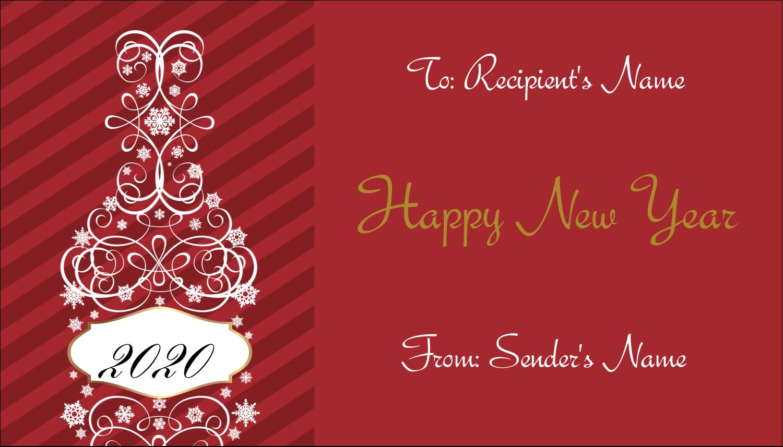 "2"" x 3½"" Business Card - Swirl Champagne Bottle"