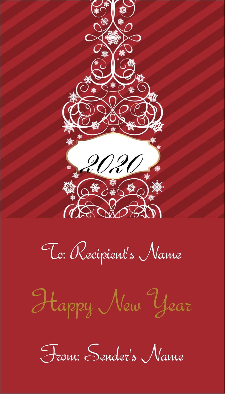 "3½"" x 2"" Business Card - Swirl Champagne Bottle"