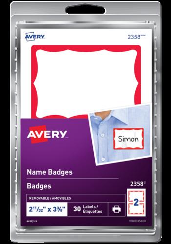 Avery<sup>®</sup> Étiquettes de badges - Avery<sup>®</sup> Étiquettes de badges