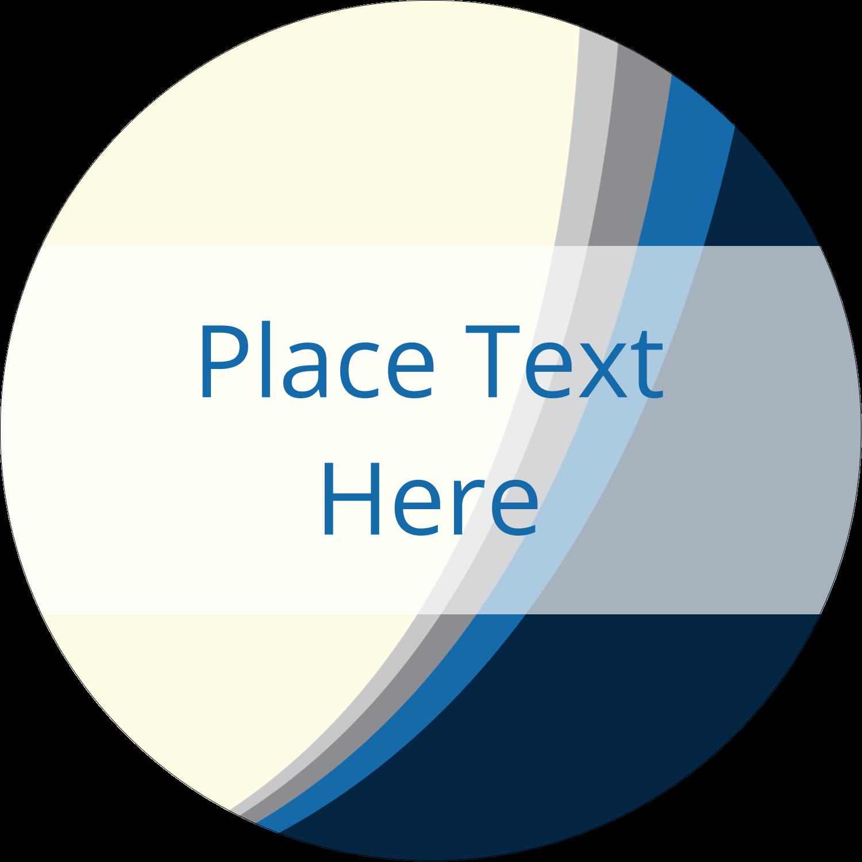"""2½"""" Round Label - Blue Wave"""