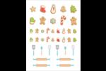 Cuisson de Noël Cartes Et Articles D'Artisanat Imprimables - gabarit prédéfini. <br/>Utilisez notre logiciel Avery Design & Print Online pour personnaliser facilement la conception.