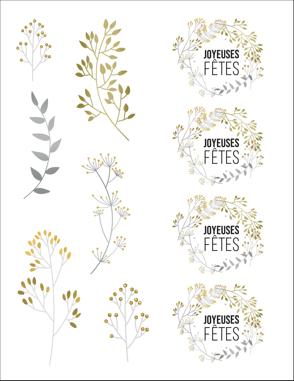 Argent et or Cartes Et Articles D'Artisanat Imprimables - gabarit prédéfini. <br/>Utilisez notre logiciel Avery Design & Print Online pour personnaliser facilement la conception.