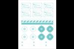 Hanoukka fantaisiste Cartes Et Articles D'Artisanat Imprimables - gabarit prédéfini. <br/>Utilisez notre logiciel Avery Design & Print Online pour personnaliser facilement la conception.
