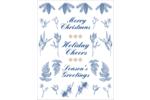 Bleu et blanc Cartes Et Articles D'Artisanat Imprimables - gabarit prédéfini. <br/>Utilisez notre logiciel Avery Design & Print Online pour personnaliser facilement la conception.