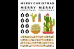 Cactus festif Cartes Et Articles D'Artisanat Imprimables - gabarit prédéfini. <br/>Utilisez notre logiciel Avery Design & Print Online pour personnaliser facilement la conception.