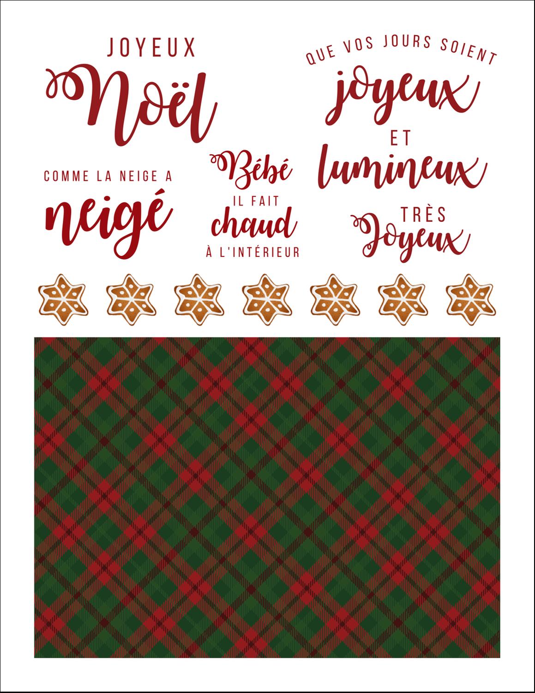 Tartan chaleureux Cartes Et Articles D'Artisanat Imprimables - gabarit prédéfini. <br/>Utilisez notre logiciel Avery Design & Print Online pour personnaliser facilement la conception.