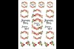 Noël naturel 2 Cartes Et Articles D'Artisanat Imprimables - gabarit prédéfini. <br/>Utilisez notre logiciel Avery Design & Print Online pour personnaliser facilement la conception.