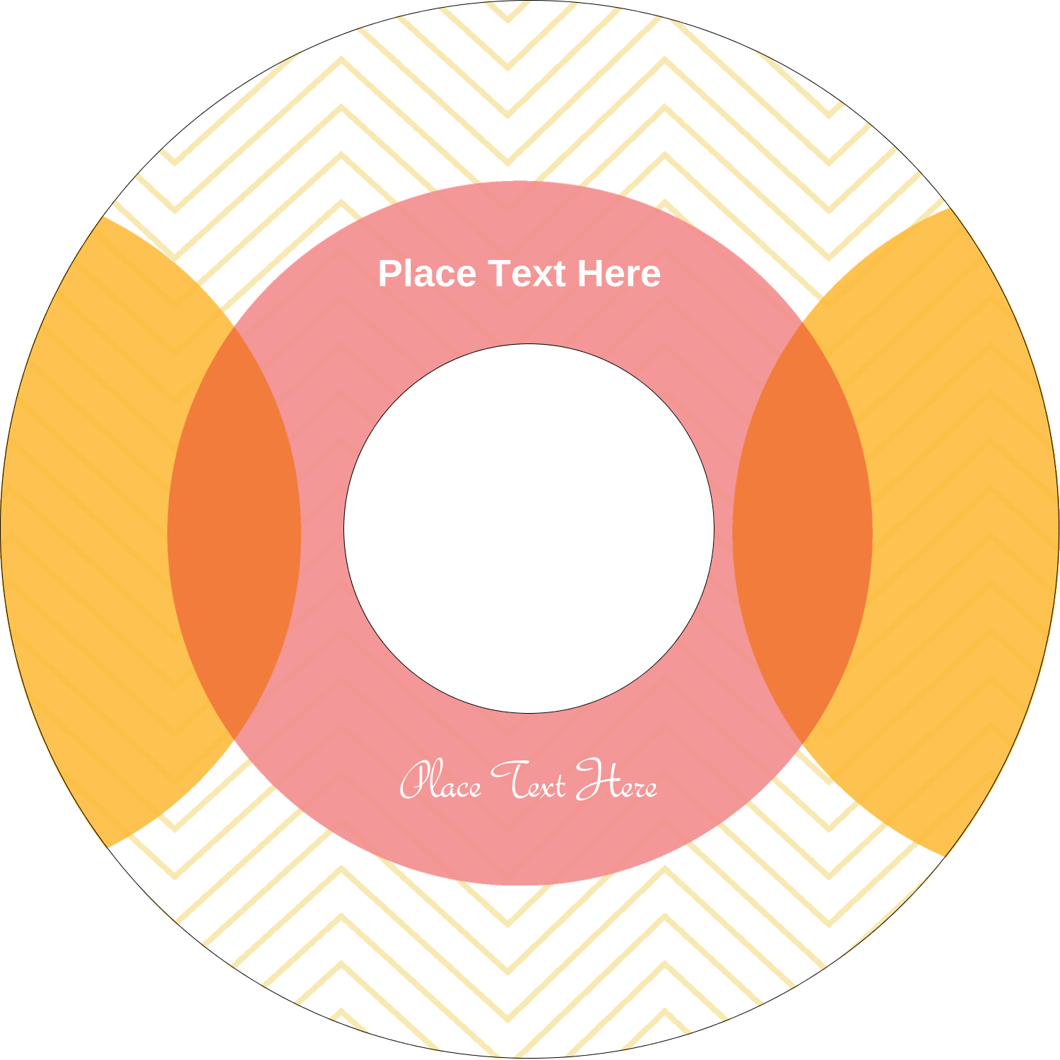 "4.65"" CD-DVD Label - Chevron Circles"