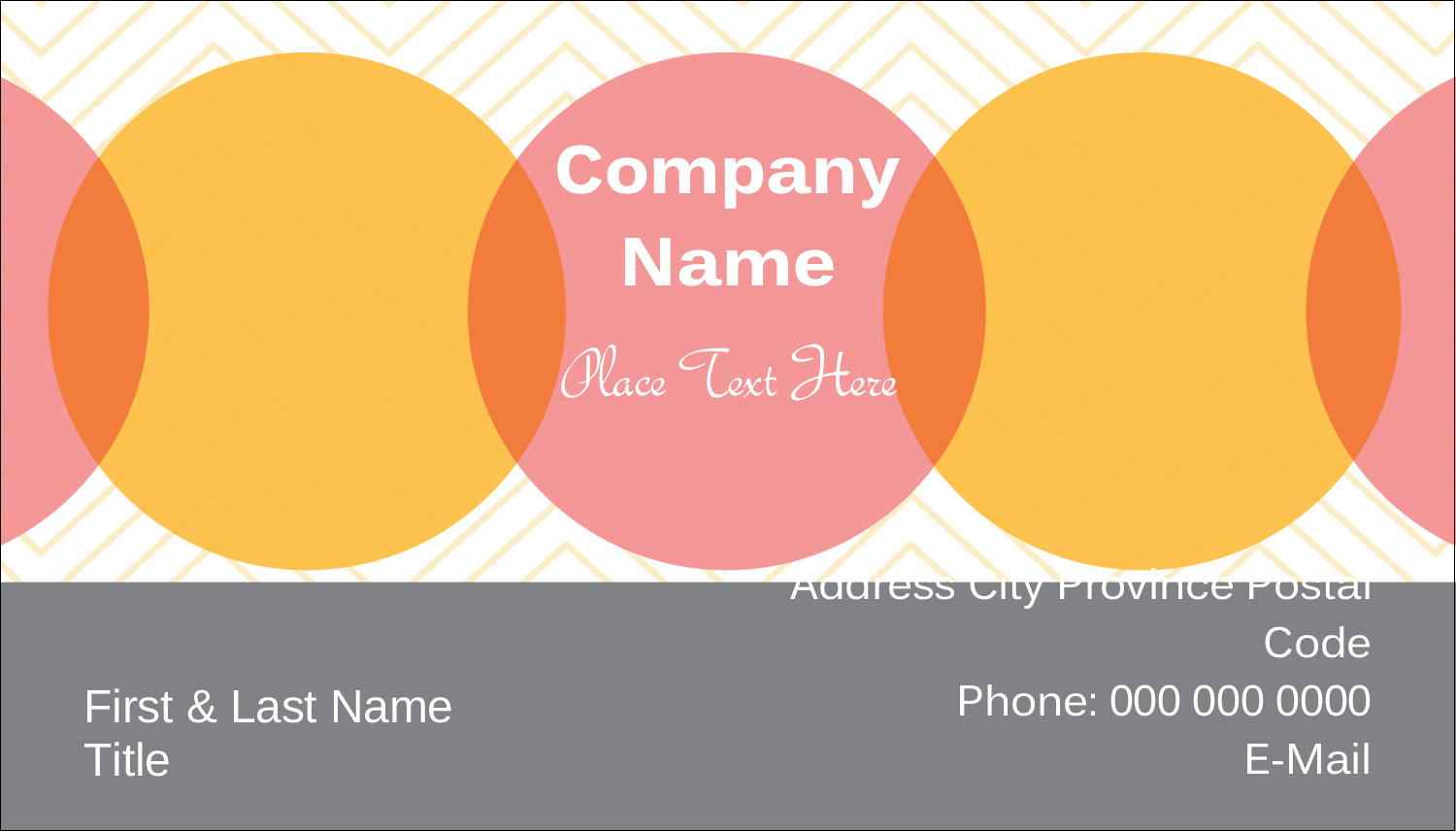 "2"" x 3½"" Business Card - Chevron Circles"