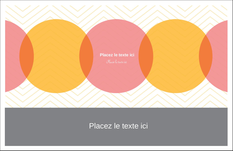 """5½"""" x 8½"""" Cartes de souhaits pliées en deux - Cercles Chevron"""