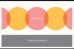 Cercles Chevron Cartes de souhaits pliées en deux - gabarit prédéfini. <br/>Utilisez notre logiciel Avery Design & Print Online pour personnaliser facilement la conception.