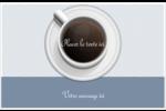 Tasse à café au-dessus Cartes de souhaits pliées en deux - gabarit prédéfini. <br/>Utilisez notre logiciel Avery Design & Print Online pour personnaliser facilement la conception.