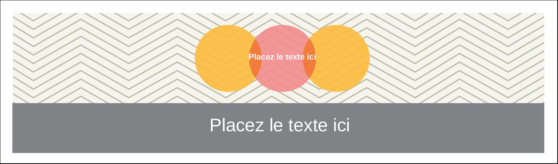 """2½"""" x 8½"""" Affichette - Cercles Chevron"""