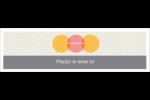 Cercles Chevron Affichette - gabarit prédéfini. <br/>Utilisez notre logiciel Avery Design & Print Online pour personnaliser facilement la conception.