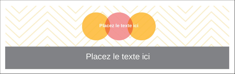 """3½"""" x 11"""" Affichette - Cercles Chevron"""