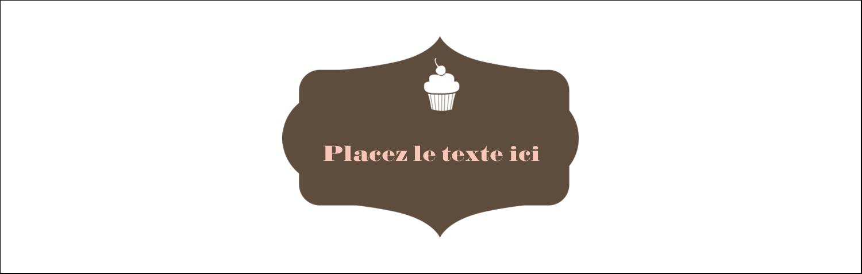 """3½"""" x 11"""" Affichette - Petit gâteau"""