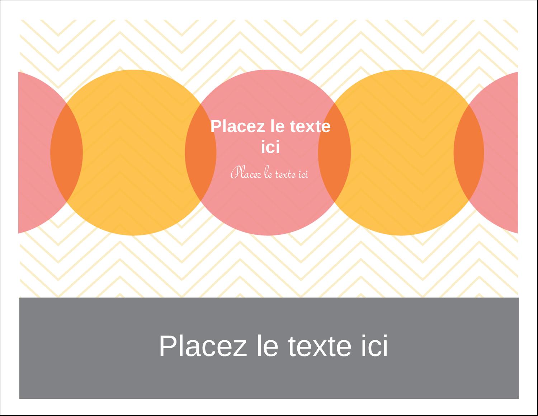 "4¼"" x 5½"" Cartes de notes - Cercles Chevron"