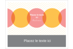 Cercles Chevron Cartes de notes - gabarit prédéfini. <br/>Utilisez notre logiciel Avery Design & Print Online pour personnaliser facilement la conception.
