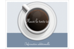 Tasse à café au-dessus Cartes de notes - gabarit prédéfini. <br/>Utilisez notre logiciel Avery Design & Print Online pour personnaliser facilement la conception.