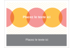 Cercles Chevron Étiquettes badges autocollants - gabarit prédéfini. <br/>Utilisez notre logiciel Avery Design & Print Online pour personnaliser facilement la conception.