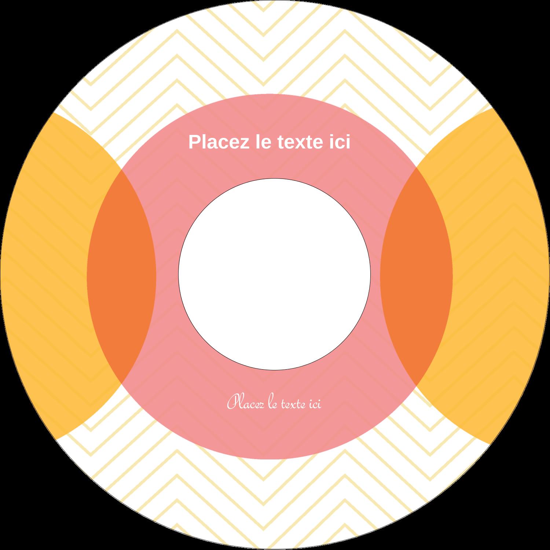 CD/DVD Étiquettes Pour Médias - Cercles Chevron