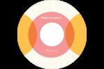 Cercles Chevron Étiquettes Pour Médias - gabarit prédéfini. <br/>Utilisez notre logiciel Avery Design & Print Online pour personnaliser facilement la conception.