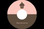 Petit gâteau Étiquettes Pour Médias - gabarit prédéfini. <br/>Utilisez notre logiciel Avery Design & Print Online pour personnaliser facilement la conception.