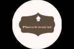 Petit gâteau Étiquettes Voyantes - gabarit prédéfini. <br/>Utilisez notre logiciel Avery Design & Print Online pour personnaliser facilement la conception.