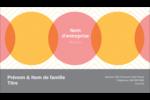 Cercles Chevron Carte d'affaire - gabarit prédéfini. <br/>Utilisez notre logiciel Avery Design & Print Online pour personnaliser facilement la conception.