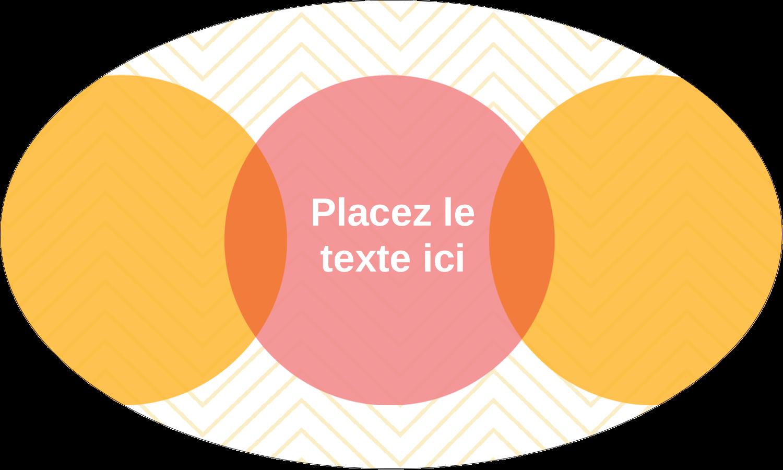 """1½"""" x 2½"""" Étiquettes ovales - Cercles Chevron"""