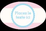 Barbe à papa Étiquettes ovales - gabarit prédéfini. <br/>Utilisez notre logiciel Avery Design & Print Online pour personnaliser facilement la conception.