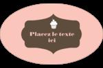 Petit gâteau Étiquettes ovales - gabarit prédéfini. <br/>Utilisez notre logiciel Avery Design & Print Online pour personnaliser facilement la conception.