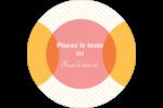 Cercles Chevron Étiquettes rondes - gabarit prédéfini. <br/>Utilisez notre logiciel Avery Design & Print Online pour personnaliser facilement la conception.