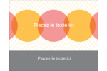 Cercles Chevron Étiquettes rectangulaires - gabarit prédéfini. <br/>Utilisez notre logiciel Avery Design & Print Online pour personnaliser facilement la conception.
