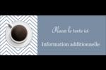 Tasse à café au-dessus Étiquettes D'Adresse - gabarit prédéfini. <br/>Utilisez notre logiciel Avery Design & Print Online pour personnaliser facilement la conception.