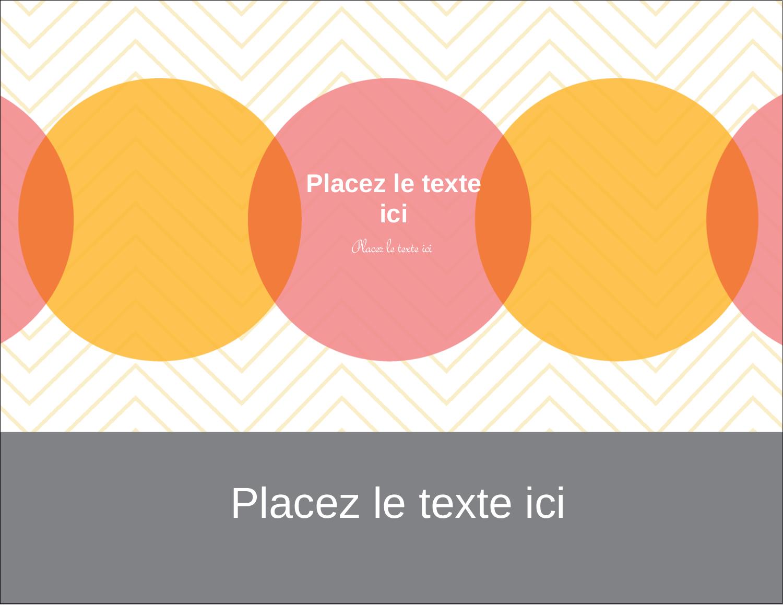 """5½"""" x 4¼"""" Carte Postale - Cercles Chevron"""