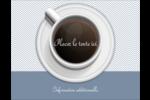 Tasse à café au-dessus Carte Postale - gabarit prédéfini. <br/>Utilisez notre logiciel Avery Design & Print Online pour personnaliser facilement la conception.