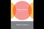 Cercles Chevron Carte Postale - gabarit prédéfini. <br/>Utilisez notre logiciel Avery Design & Print Online pour personnaliser facilement la conception.