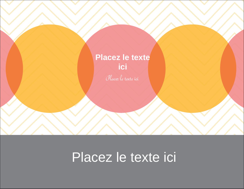 """4¼"""" X 5½"""" Carte Postale - Cercles Chevron"""