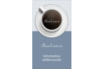 Tasse à café au-dessus Carte d'affaire - gabarit prédéfini. <br/>Utilisez notre logiciel Avery Design & Print Online pour personnaliser facilement la conception.