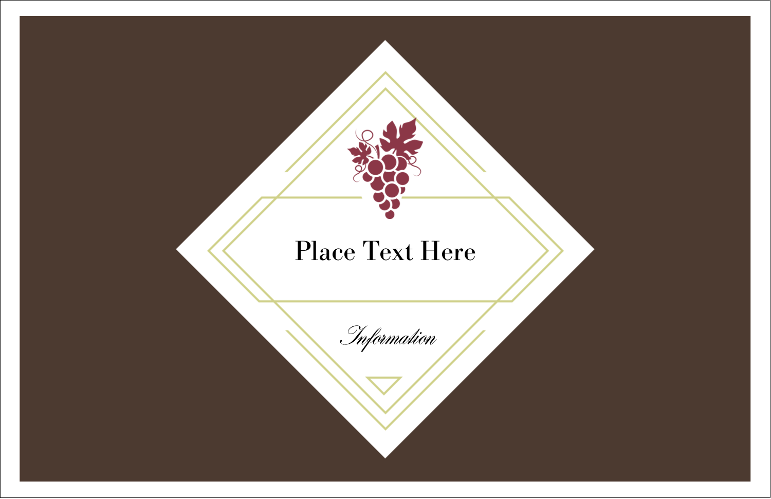 "5½"" x 8½"" Greeting Card - Grapes"