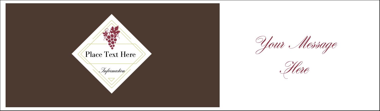 """2½"""" x 8½"""" Tent Card - Grapes"""