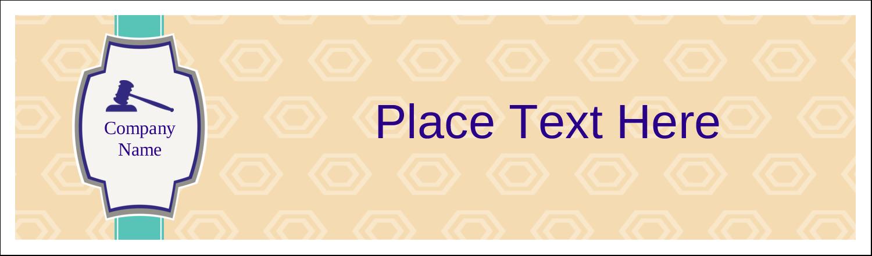 "2½"" x 8½"" Tent Card - Gavel Purple"