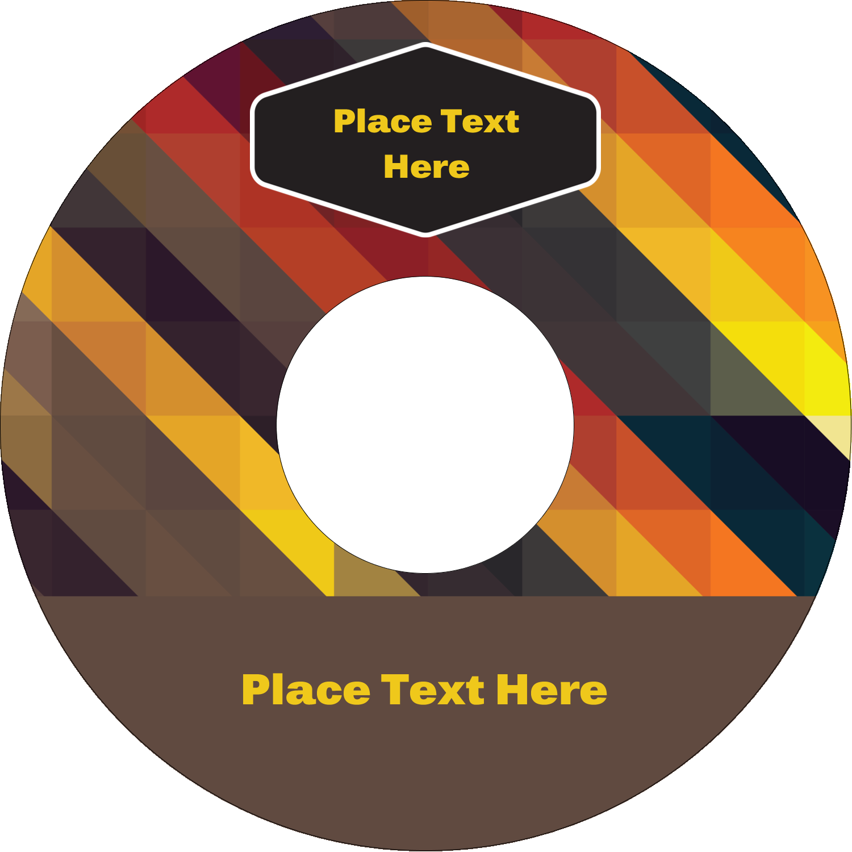 "4.65"" CD-DVD Label - Geometric Pattern Black"