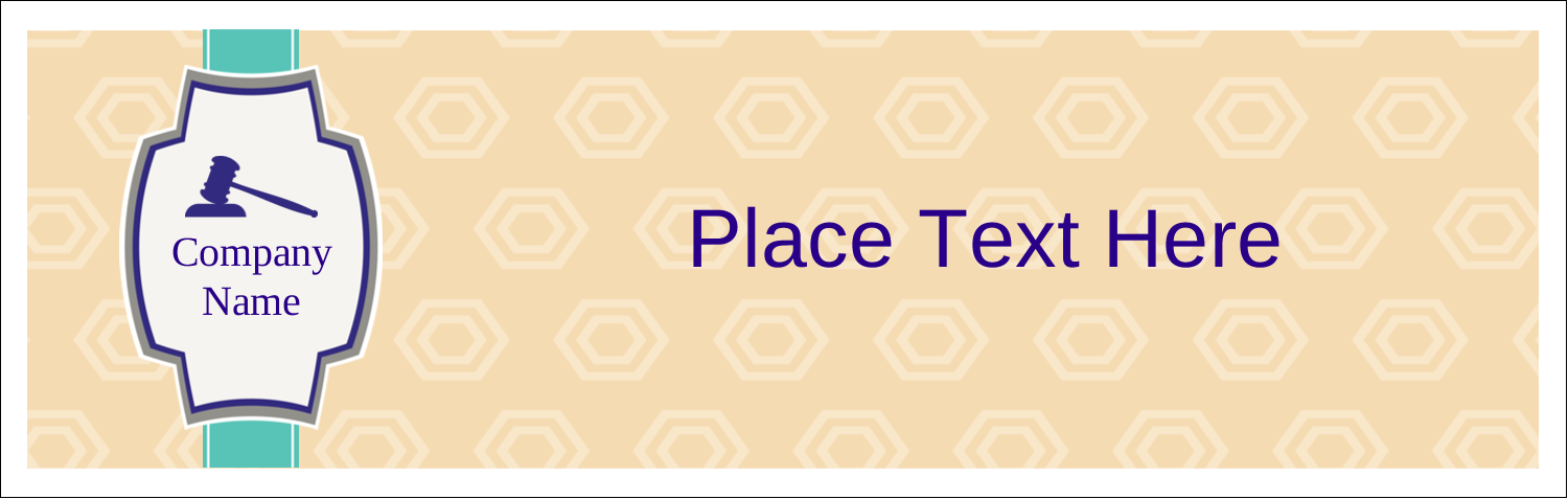 "3½"" x 11"" Tent Card - Gavel Purple"
