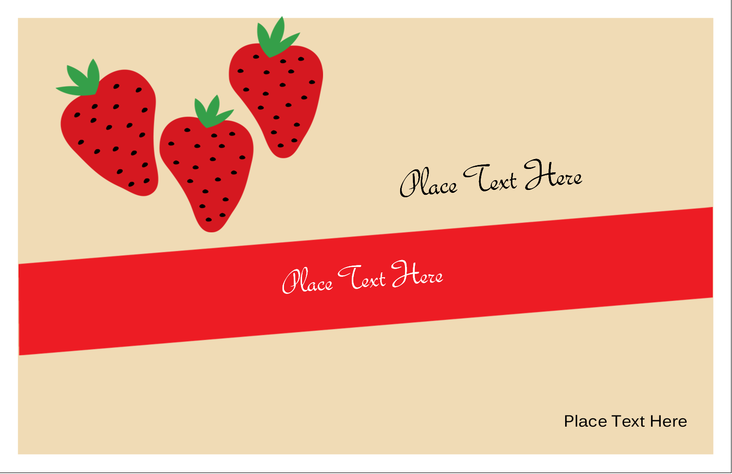 "5½"" x 8½"" Greeting Card - Strawberry Preserves"