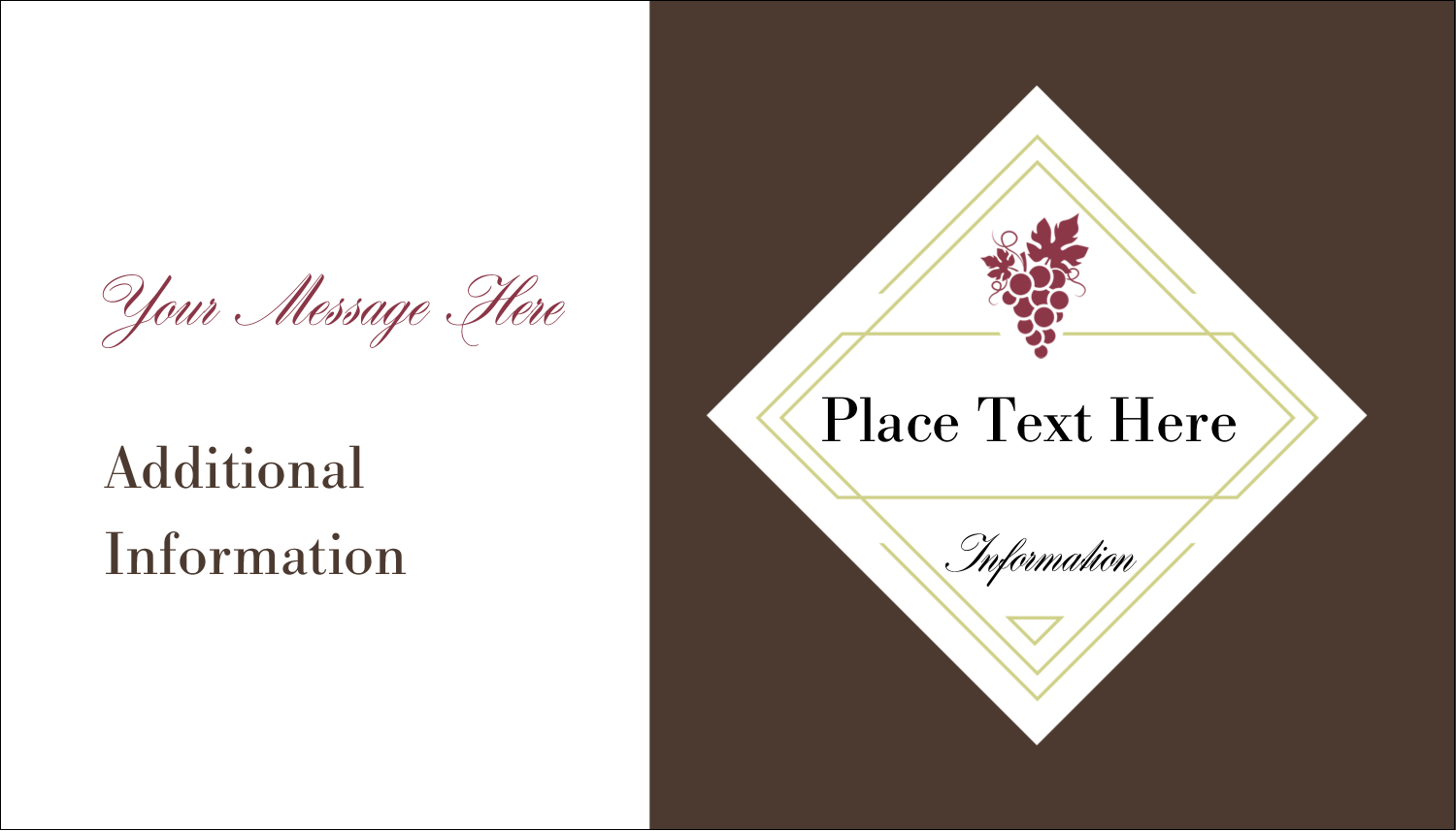 "2"" x 3½"" Business Card - Grapes"