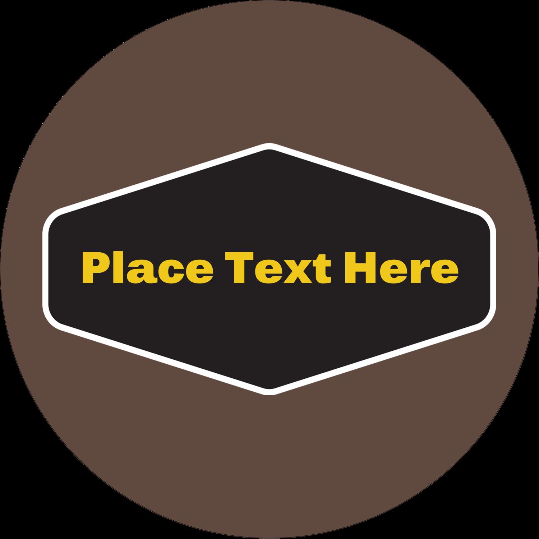 "1½"" Round Label - Geometric Pattern Black"